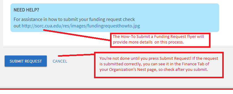 Create Funding Request instructions